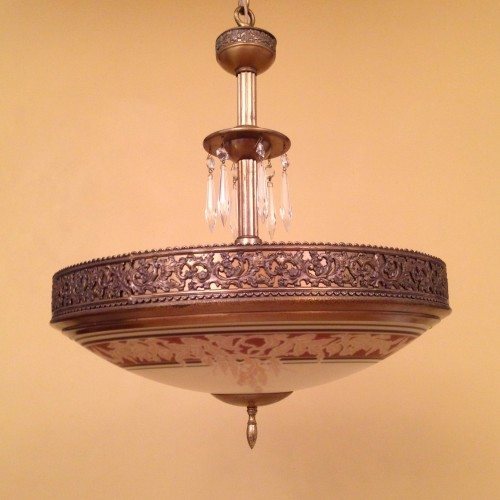 1930s Wisteria Chandelier By Gill Glass
