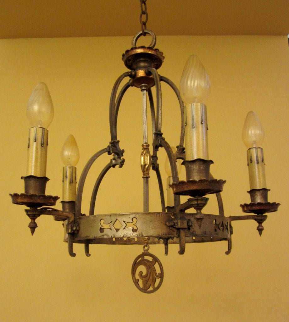 1920s high quality spanish revival chandelier striking 1920s high quality spanish revival chandelier arubaitofo Gallery