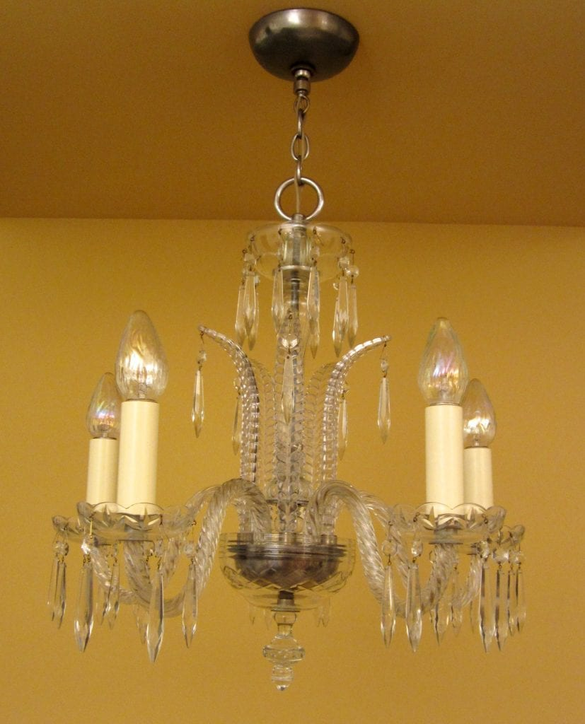 1930s Art Deco Crystal Chandelier High Quality