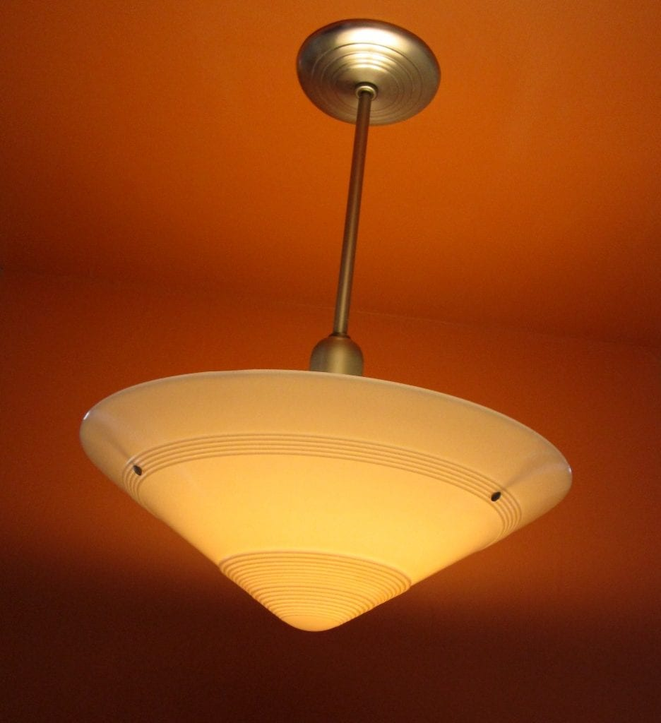 1930s Art Deco Pendant Huge 20 Wide Shade 500w