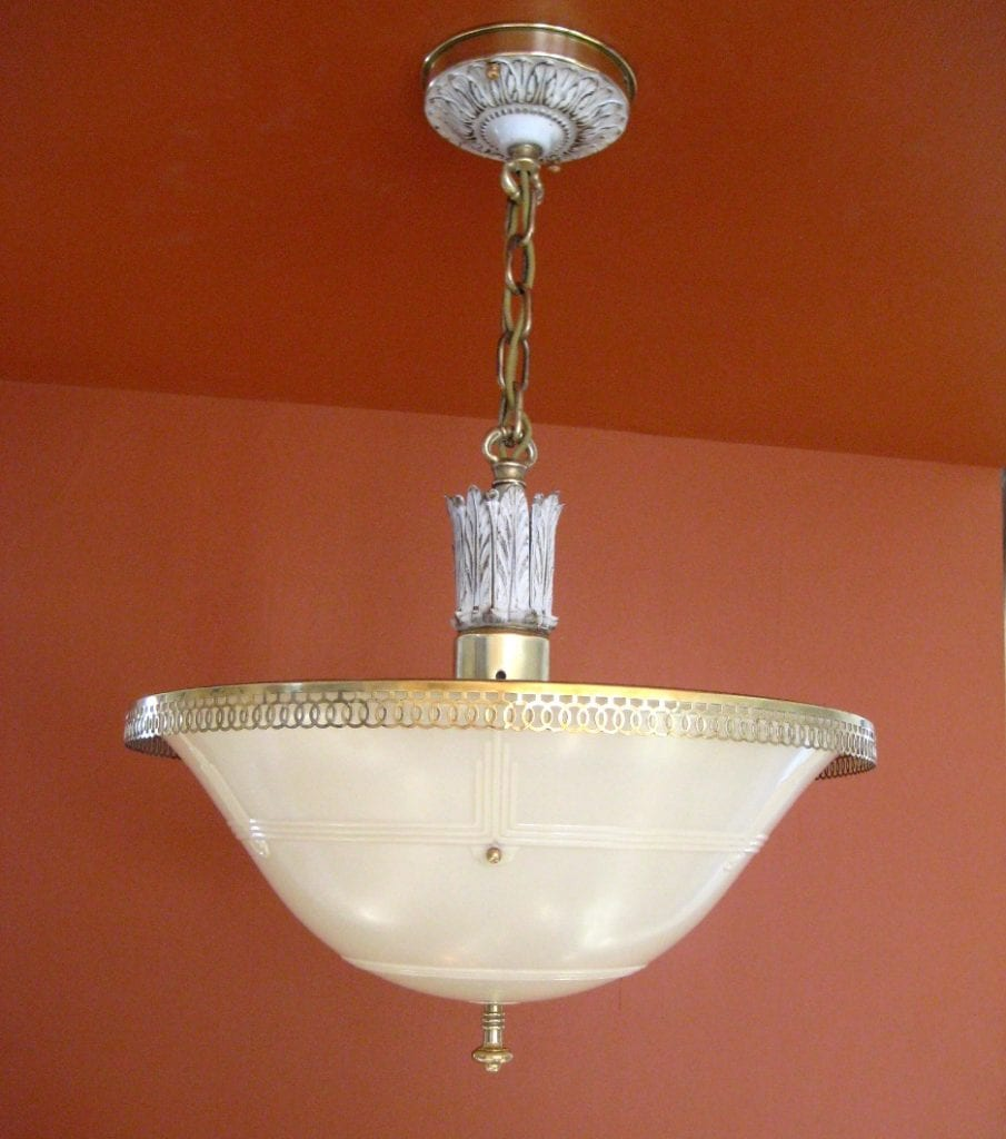 1930s even glow chandelier by chase brass 1930s even glow chandelier mozeypictures Gallery