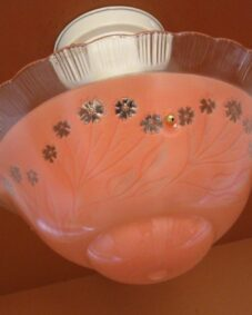 1930s coral ceiling fixture. Bedroom/Hall/Foyer.
