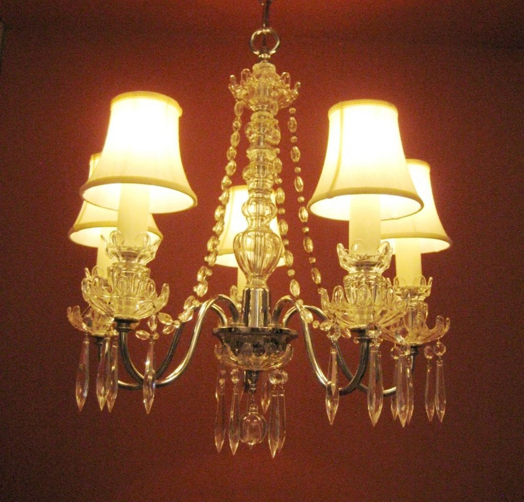 1930s crystal chandelier. Rare. Stunning.