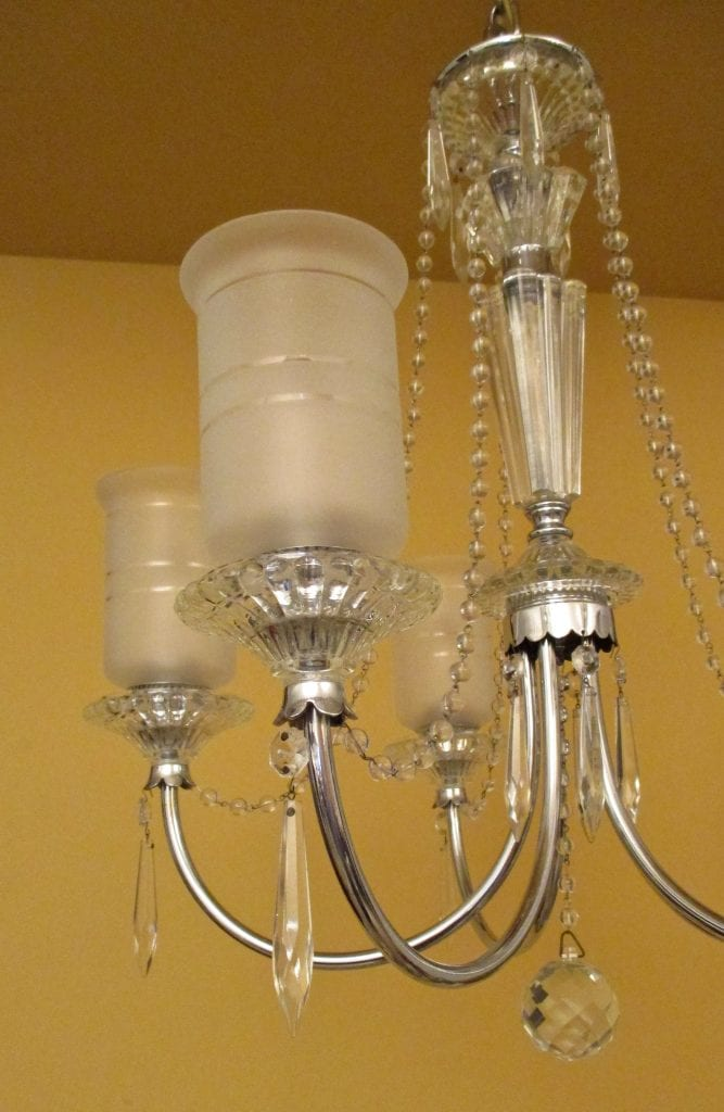 1940s Crystal Chandelier All Original