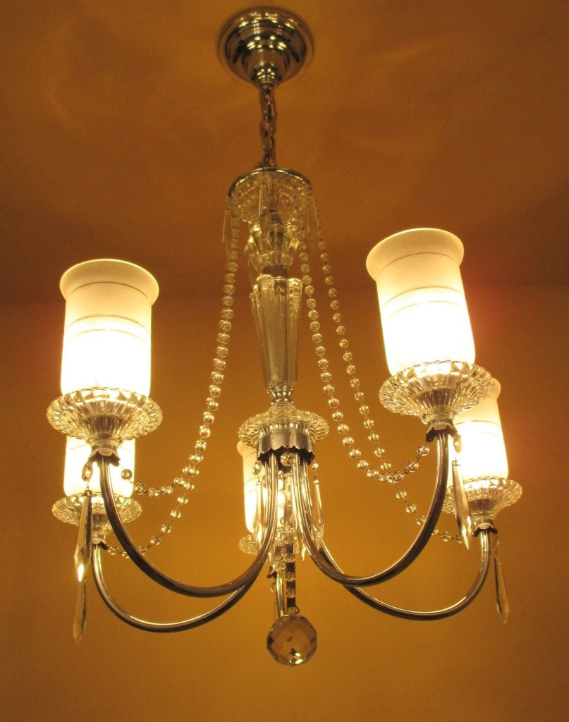 1940s crystal chandelier all original 1940s crystal chandelier aloadofball Image collections