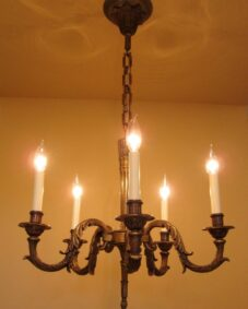 1950s high-quality European (likely French) chandelier.
