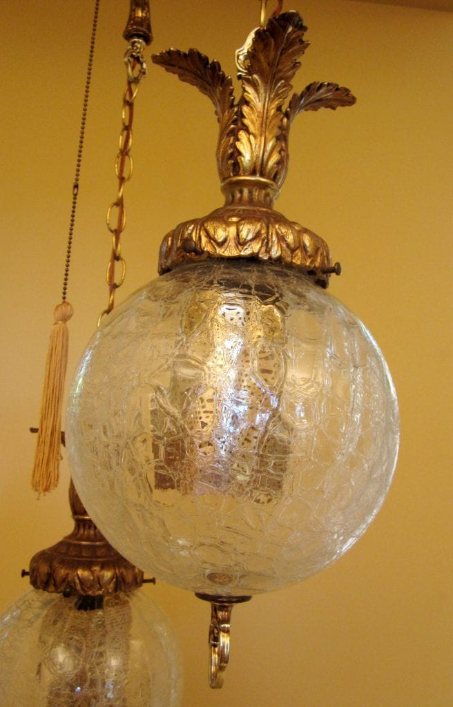 1960s Hollywood Regency Tri Globe Chandelier Extraordinary