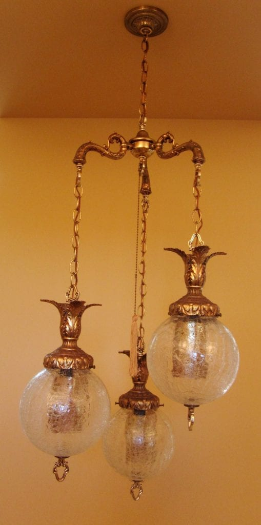 1960s hollywood regency tri globe chandelier extraordinary for T s dining virden
