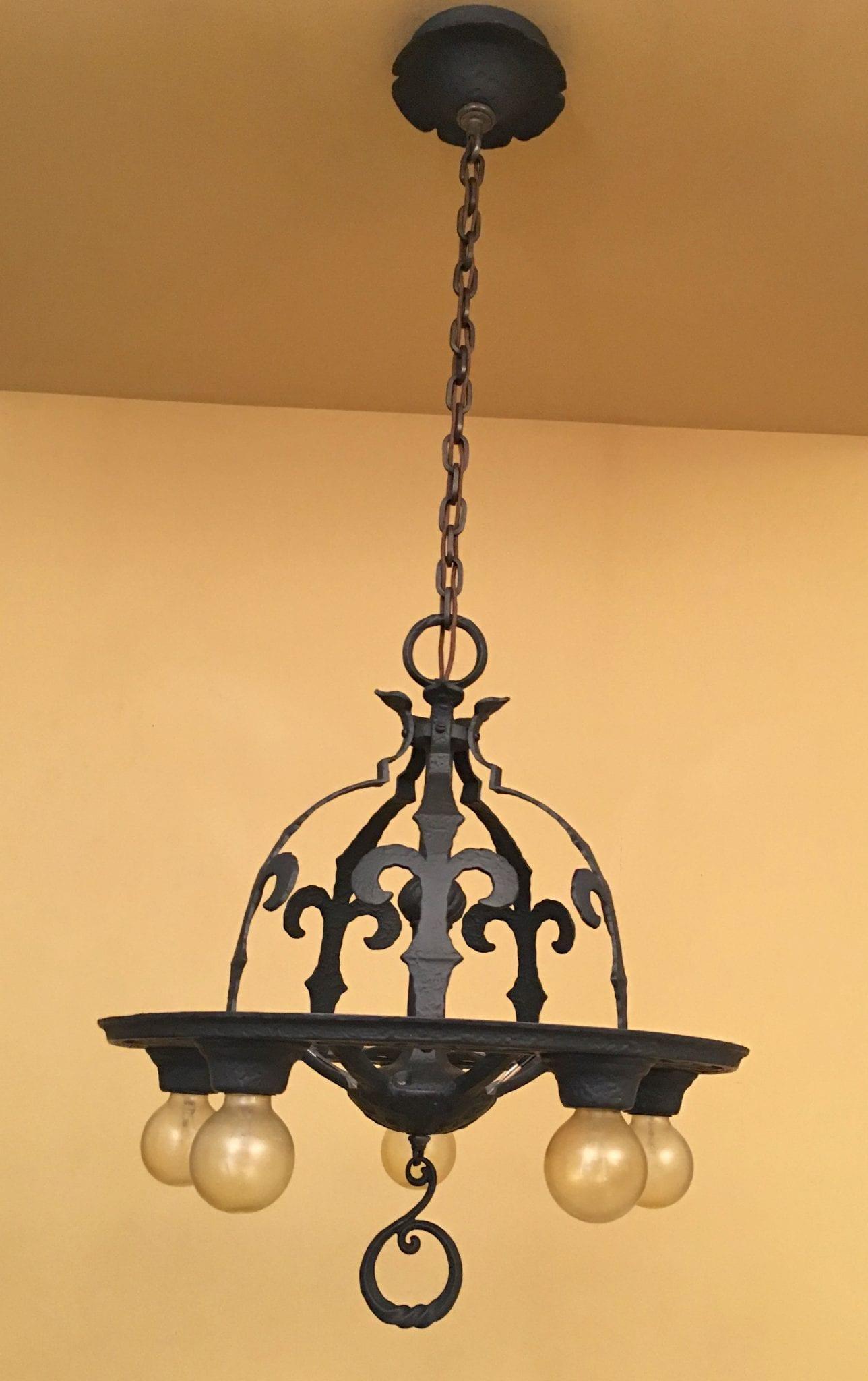 spanish revival lighting. 1930s Spanish Revival Virden Chandelier Lighting