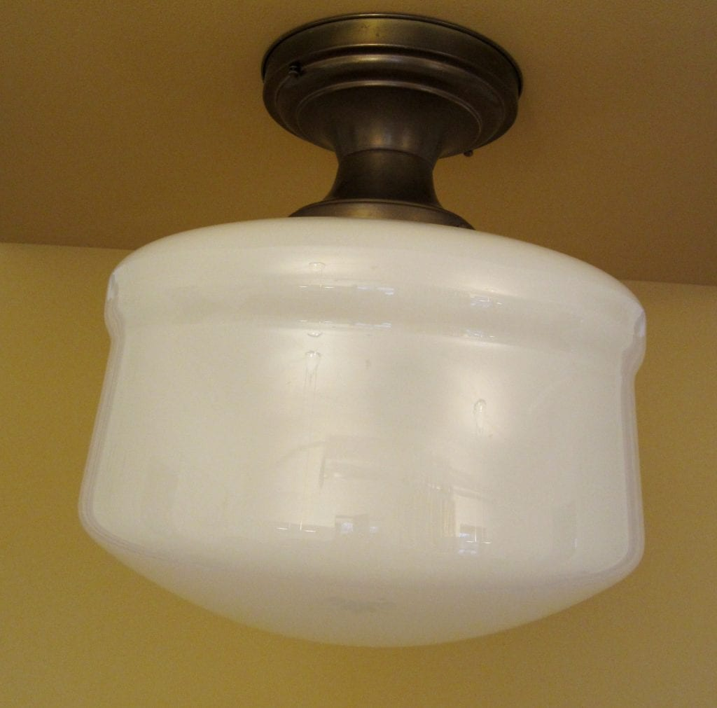 Classic schoolhouse ceiling fixture. VERY LARGE!