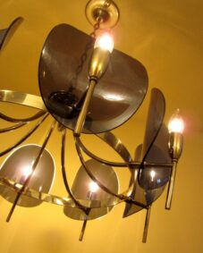 Dramatic Mid-Century chandelier by Feldman of LA.