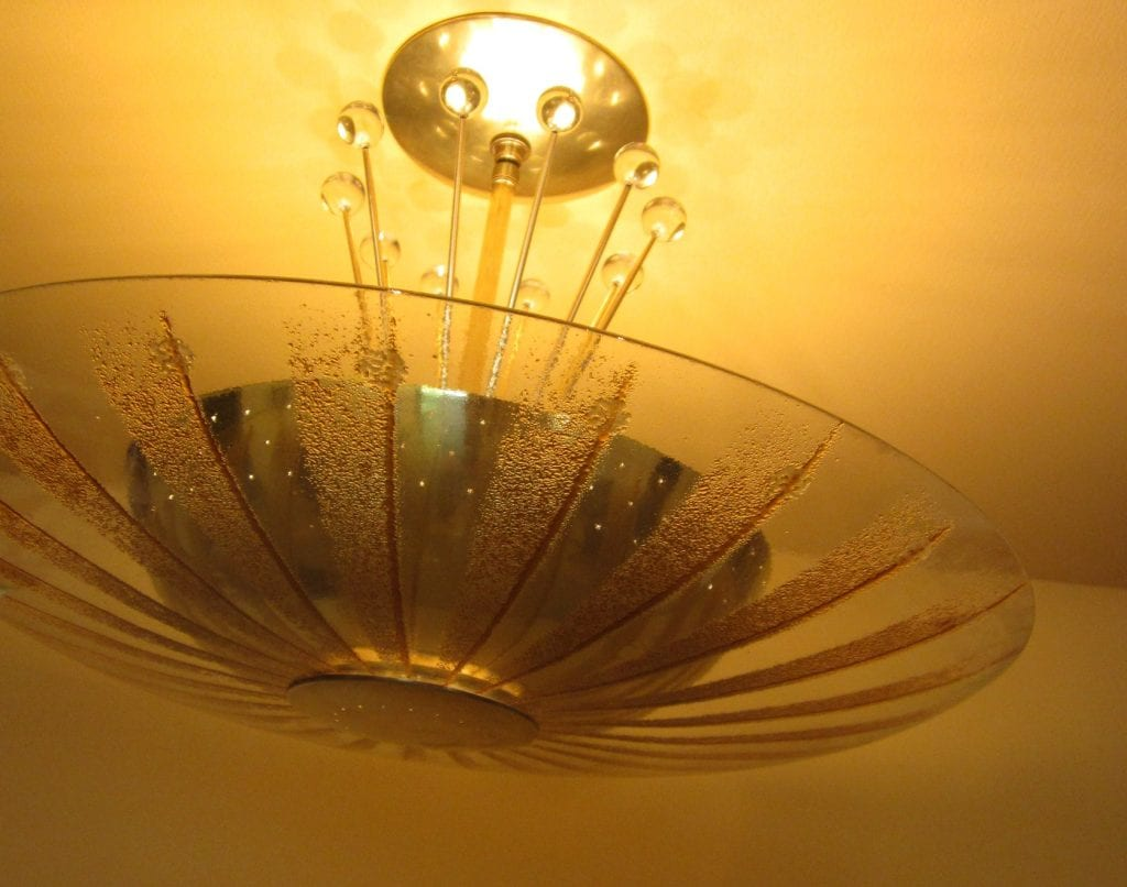 Extraordinary Mid Century Ceiling Fixture By Lightolier