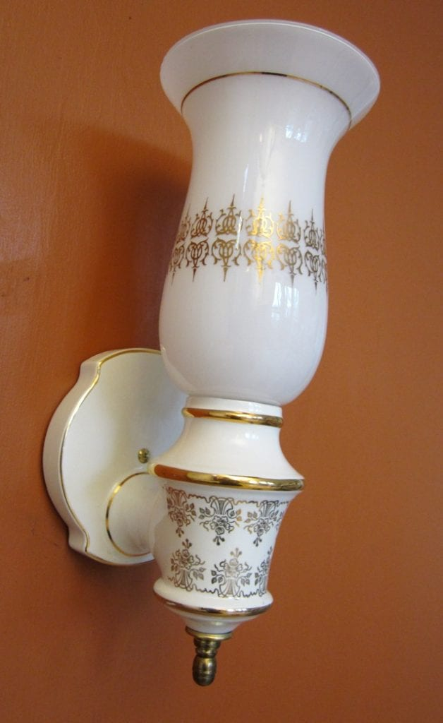 FOUR 1970s Hollywood-Regency sconces by Moe Light. LARGE.