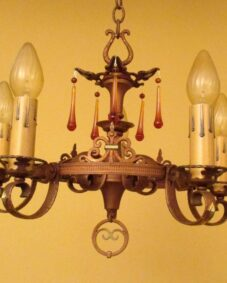 Lovely 1920s polychrome chandelier.