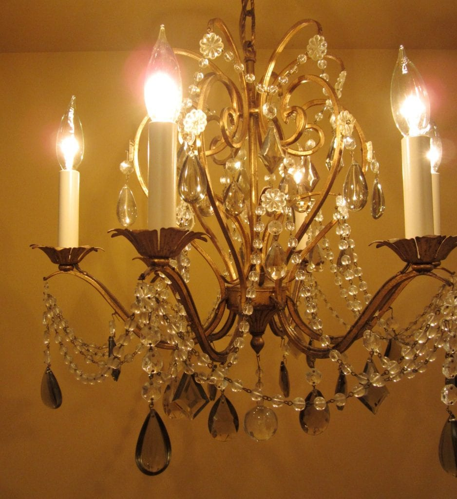 1960s Crystal Chandelier By Lightolier