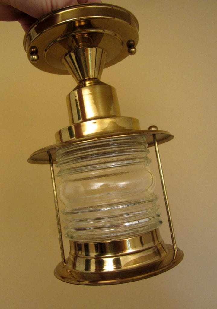 Never used Mid-Century maritime porch light. More available.