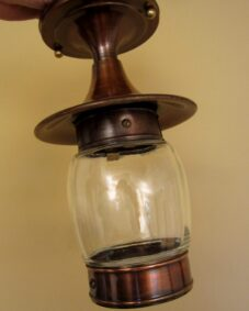 Never used Mid-Century porch hall fixture. More available.