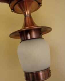 Never used Mid-Century porch/hall fixture. More available.