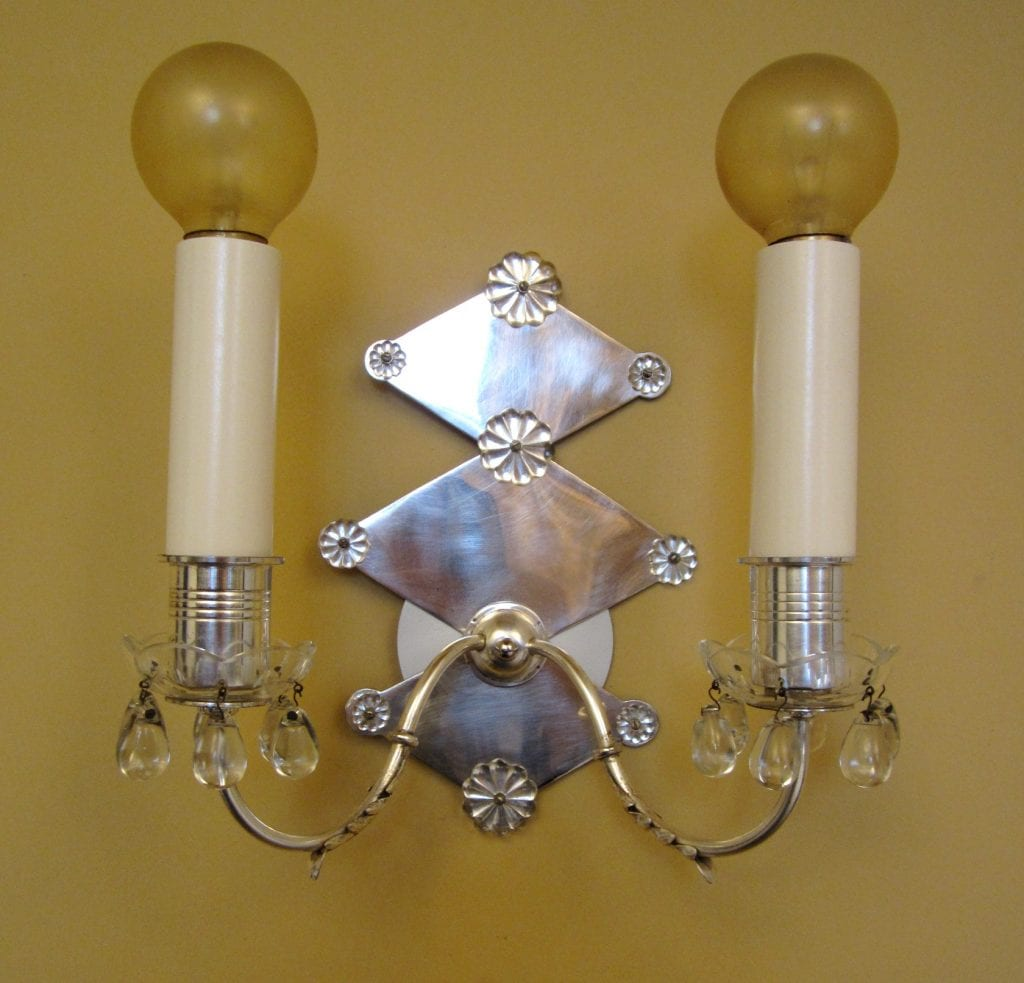 PAIR 1940s Hollywood Regency sconces   Extraordinary