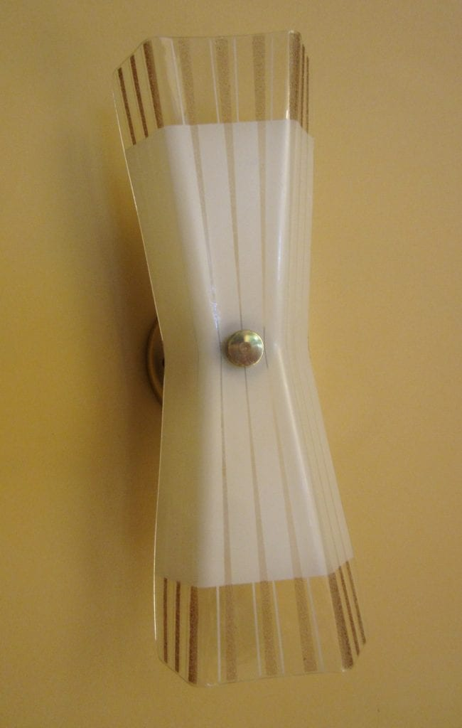 PAIR Mid-Century wall sconces by Imperialites. MORE AVAILABLE.