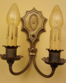PAIR circa-1930 quality wall lights