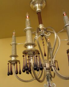 PAIR extraordinary 1920s silver chandeliers.