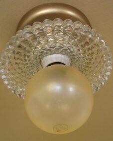 PAIR of 1930s 1-bulb fixtures. Can be sconces or ceiling lights!