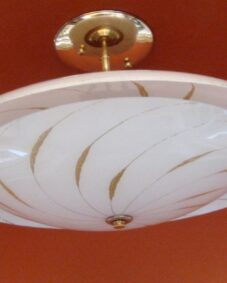 SIX matching 1950s Mid-Century ceiling lights. Ideal for a restaurant or loft.