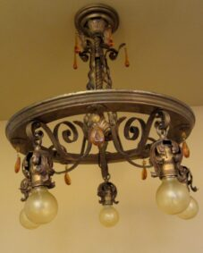 Striking 1920s pendant. Just 20-inches high.