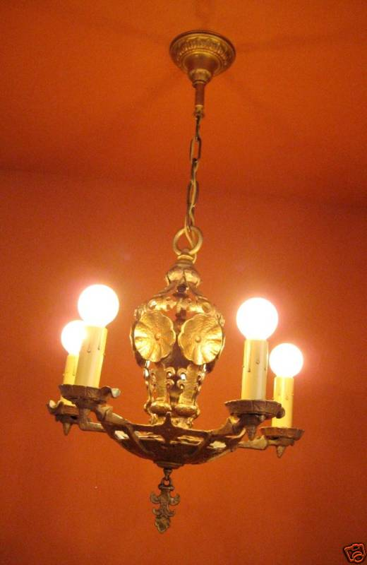 1920s Halcolite Chandelier High Quality